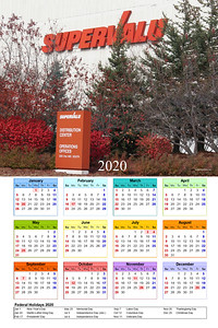 2020 Supervalu 300 large red calendar  WM1 year template