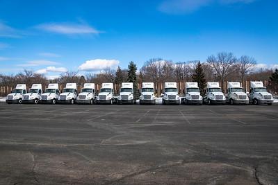 Unfi truck Line up