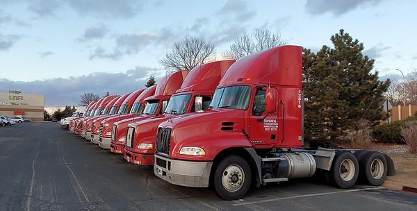 Unfi Supervalu truck Red