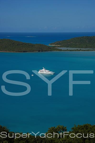 Callisto at anchor, Antigua