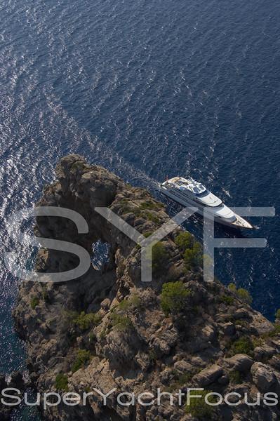 YR5Z1436 Aerial  Feadship  Sa Foradada Mallorca
