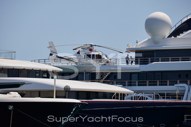 Superyachts. Helicopter