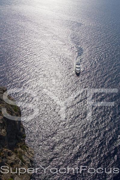 YR5Z1425 Aerial  Yacht  North coast Mallorca