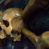 Skull and crossbones (Marble), Apse, Church of Santa Maria del Popolo (Side view).