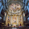 Nave and Apse, three scenes from the lives of Jesuit saints by Ludovico Mazzanti.