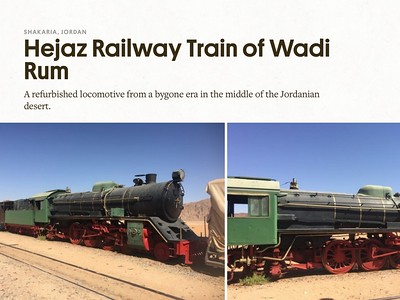 """Hejaz Railway Train of Wadi Rum"" Atlas Obscura"