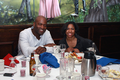 Dinner guests enjoy the night activities at the Freedom Alliance's military appreciation dinner on Feb. 12 at Charley's Other Brother restaurant in Mt. Holly, N.J. The Freedom Alliance, an educational and charitable organization that sponsors numerous program activities aimed at supporting and honoring U.S. military service members and their families, hosted the dinner as a way to show their support to 108th Wing Airmen that have deployed in the past year in support of operations Enduring Freedom and Iraqi Freedom. (U.S. Air Force photo by Staff Sgt. Armando Vasquez, 108th WG / PAO)