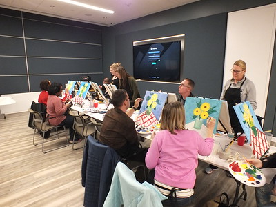 Pasta and Paint Night at Walter Reed National Military Medical Center