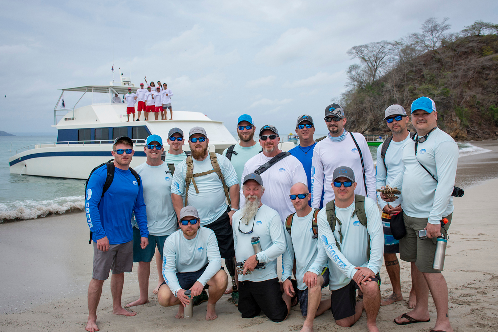 Costa Cat Tours donated a trip to Tortuga Isle, where he troops spent a day snorkeling, swimming, and relaxing on the white sands island.
