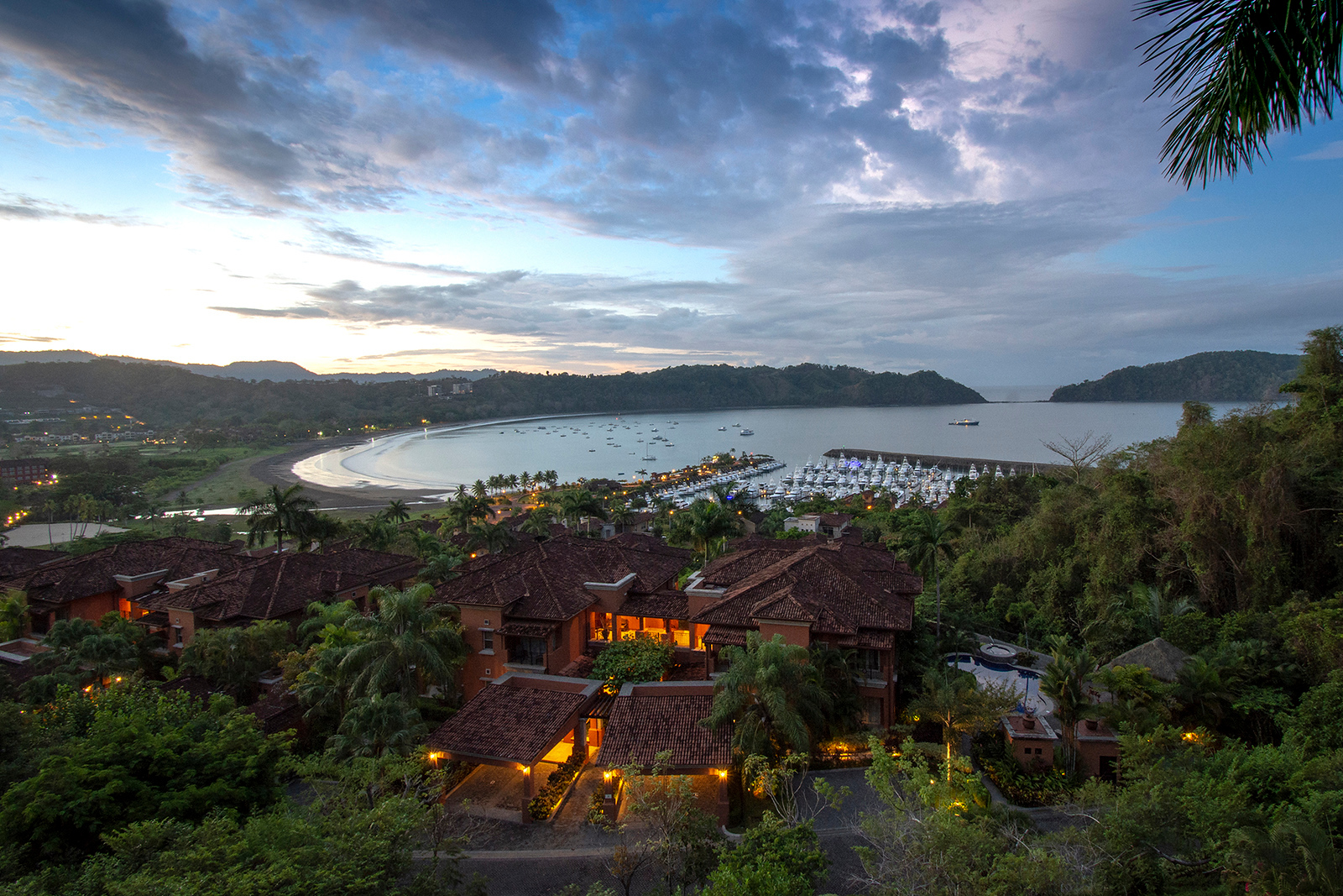 The view from one of the condos overlooking Los Sueños Resort and Marina.