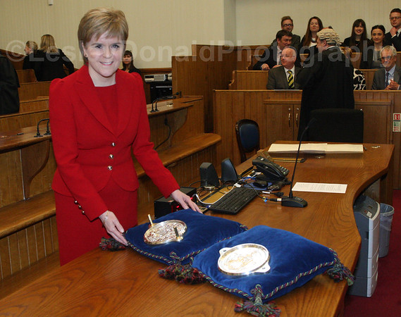 NICOLA STURGEON SWORN IN AS FIRST MINISTER 18/05/2016