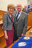 NICOLA STURGEON FIRST MINISTER  WITH HUSBAND PETER MURRELL. 20/11/2014