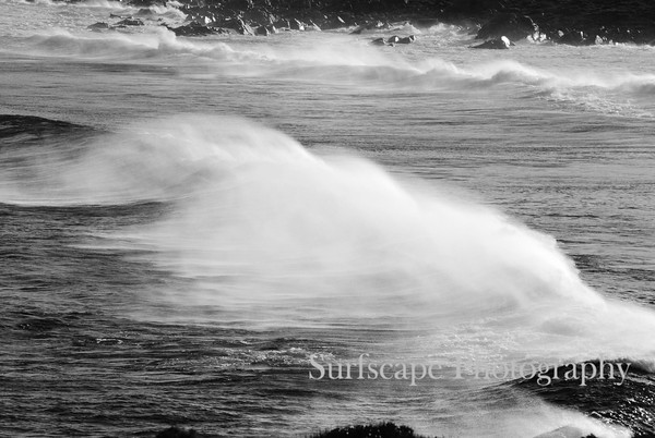 Black and White Surf Spray