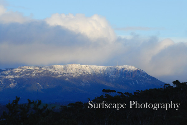Snow capped Mt Wellington, Hobart,Tasmania