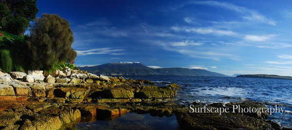 Mt Wellington from Opossum bay, Tasmania