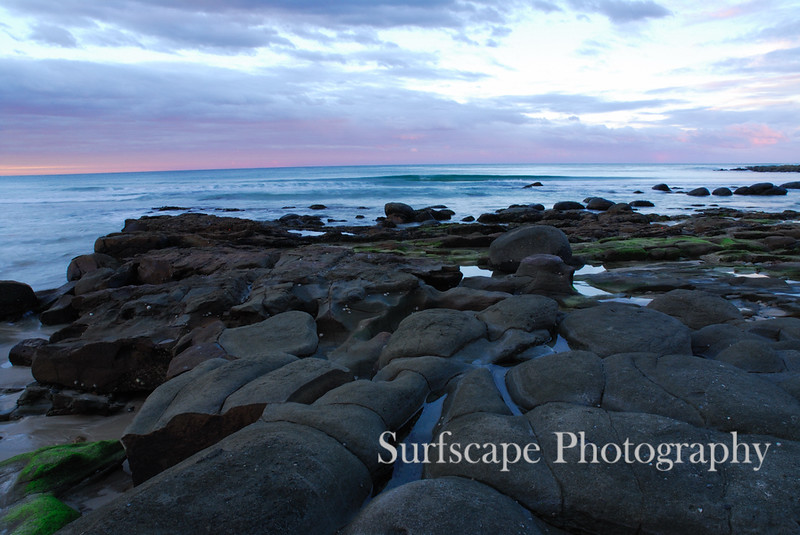 Sunset at Spooky Beach, Yamba, NSW
