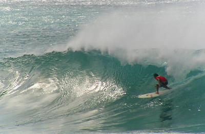 Surfing Sunset BreakNorth Shore of O'ahu, Hawai'i  September 2004