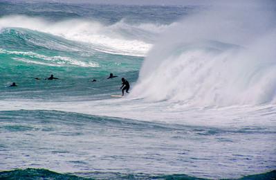 Surfing Sunset BreakNorth Shore of O'ahu, Hawai'i  November 2003