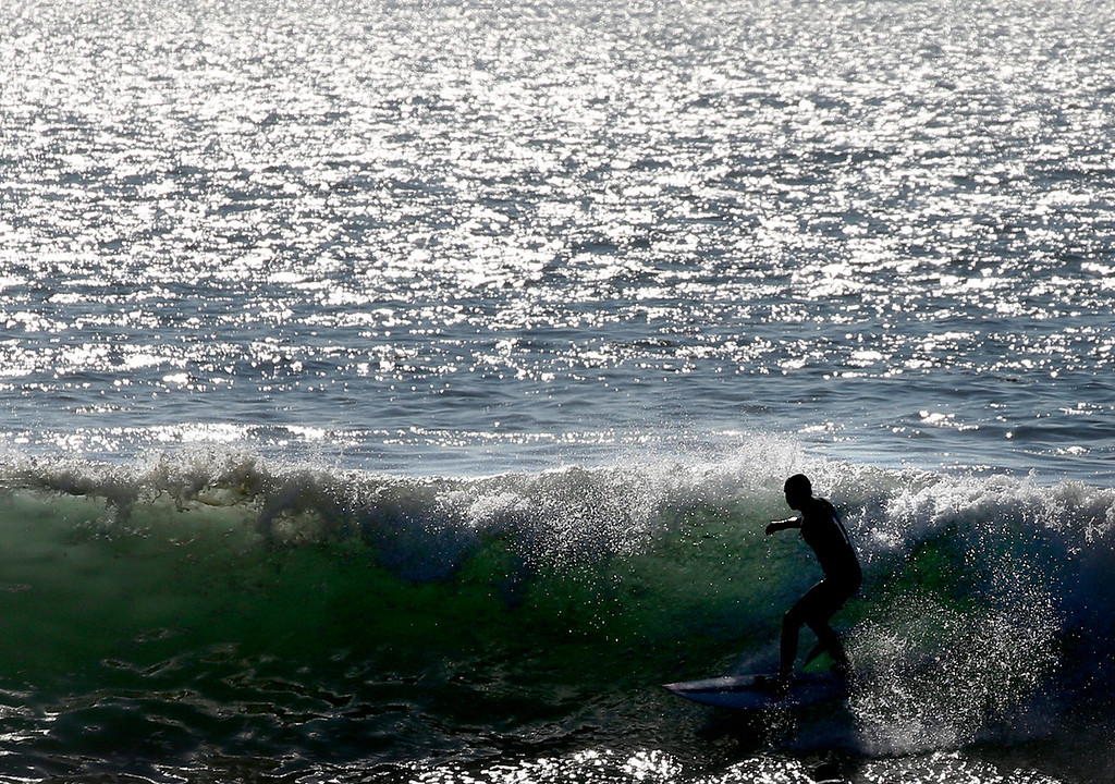 . Surf at Steamer Lane in Santa Cruz, California on Wednesday December 13, 2017. (Shmuel Thaler -- Santa Cruz Sentinel)