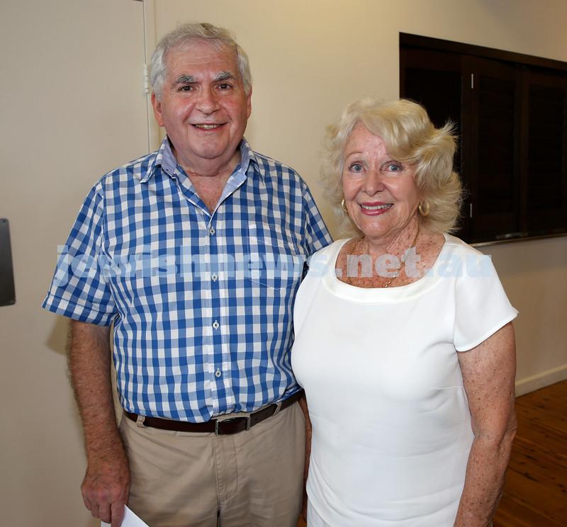 Launch of Australian Friends Of Surf Life Saving Israel at Bondi Surf Bathers Life Saving Club. John Lowbeer and Valerie Hosek. Pic Noel Kessel.