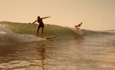 Me on another Sid Madden shape!, surfing Grandview...