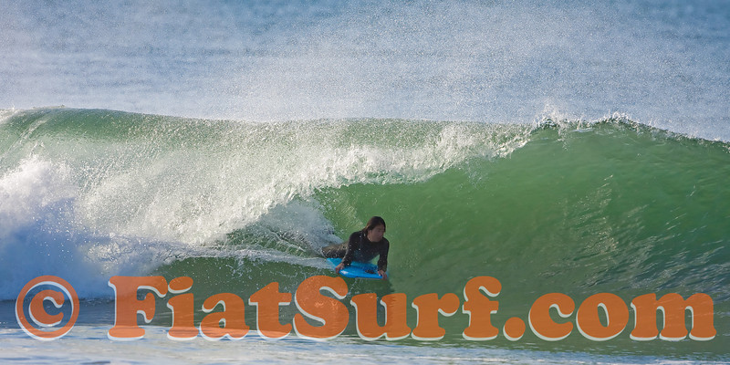 Newps bodyboarder Joe Suzuki finding the tube...
