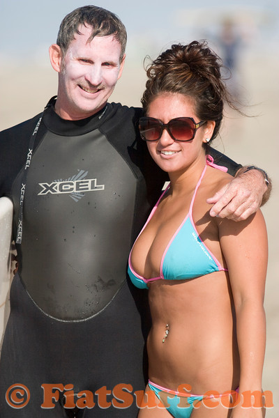 Father/daughter surf team!  Yeah, okay, we could lose the dad but he's as proud of the genes as we are appreciative.