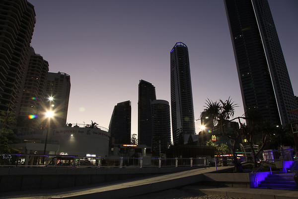 Surfers Paradise Sunset 4th August 2012