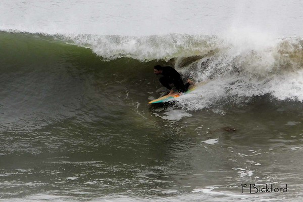 Storming Barrels  in Malibu