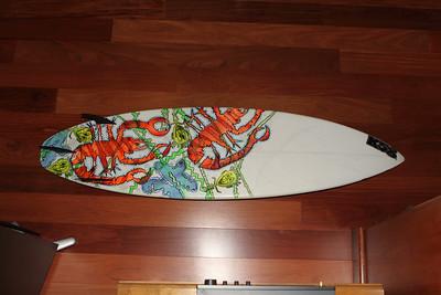 "A James Mangano K58 Surfart creation, board shaper and artist.  6'4"" squashtail 11/13/2009"