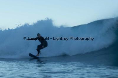 A very blurry Carlos surfing La Jolla