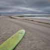 Surfboard At Dawn