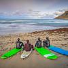 4 Surfer Girls, Lofoten Norway