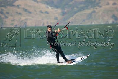 Kiting and windsurfing at Golden Gate Bridge, 5/29/10