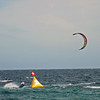 Heat Winner Jake Kinney rounds a bouy at Kite boarding contest at Barrelles Mexico in 2011