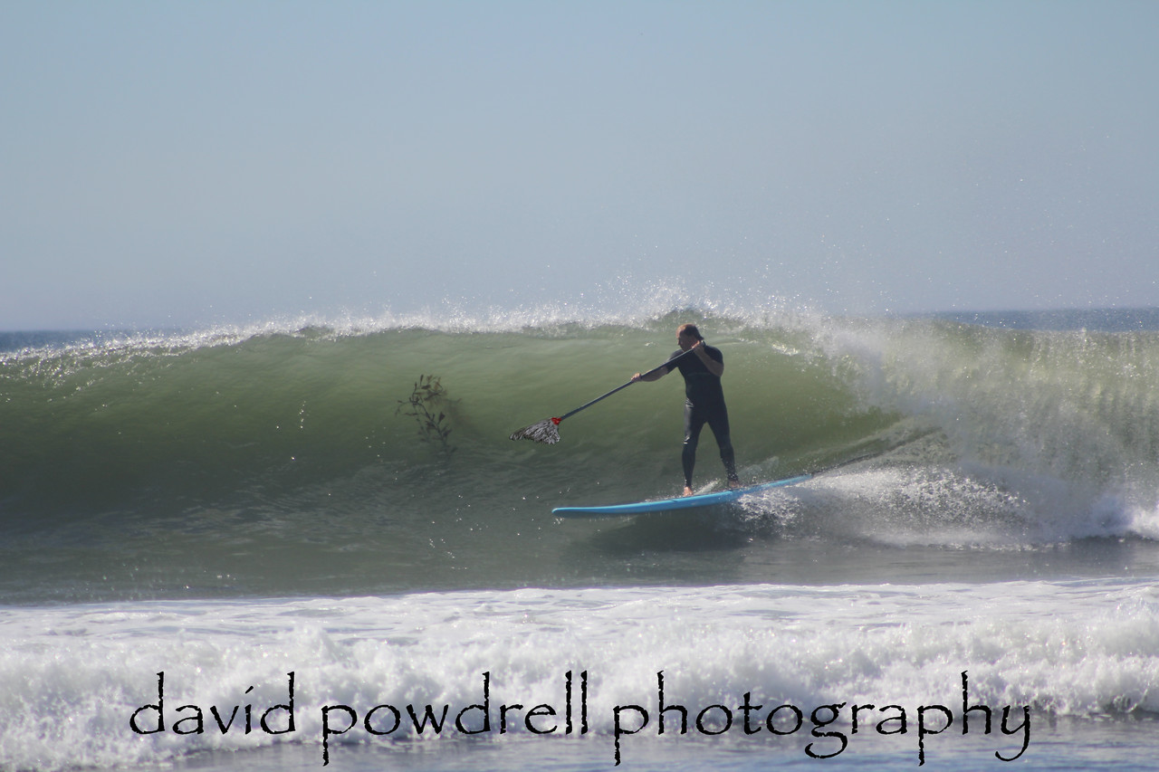 "The Janitor - ""Clean-up on Aisle 9""<br /> A slightly altered shot of Michael Lee in Central California.  <br /> All in good fun on a sometimes controversial topic, the Stand-Up Paddleboard. South Swell-Central California"