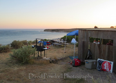 The campsite.