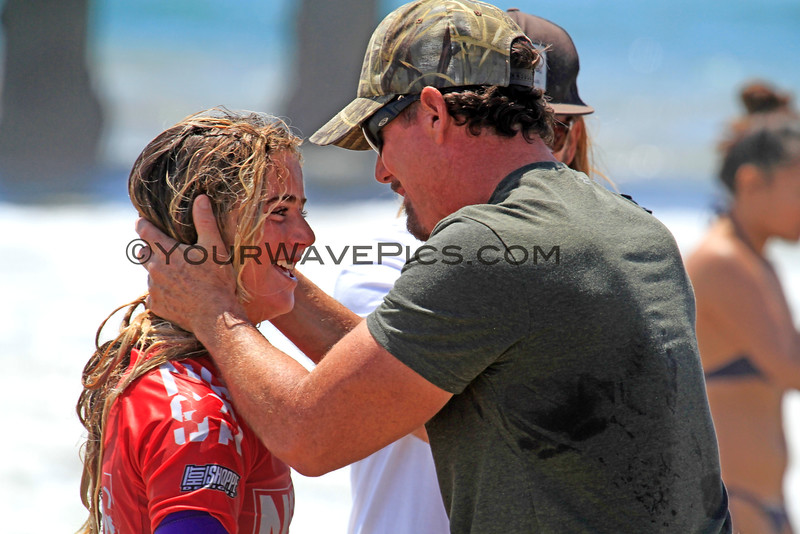 """Caroline_Marks_4381.JPG<br /> <br /> My favorite photo of the day!   If this is Caroline's dad, I'm pretty sure he is saying, """"I knew you could do it!"""""""
