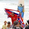 Dax McGill gets chaired up the beach after winning the 2012 NSSA National Womens Division