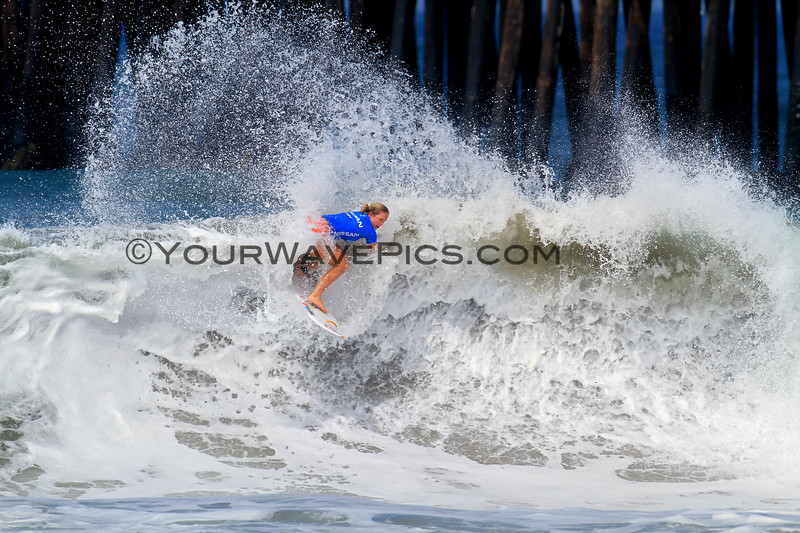 2019-07-27_Supergirl Pro_Bethany_Hamilton_13.JPG<br /> Nissan Supergirl Pro 2019<br /> <br /> Bethany Hamilton put on a great show for the crowds on the beach