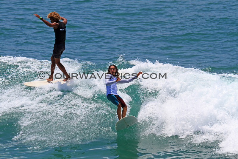2019-08-01_Duct Tape Inv_Kaniela_Stewart_Zack_Flores_1.JPG<br /> <br /> US Open of Surfing 2019 - Duct Tape Invitational