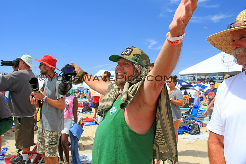 2019-08-04_US Open_Gregg_Erickson_4_Final.JPG<br /> Sage Erickson's dad as he watched her in the Women's Final<br /> <br /> Finals Day, US Open of Surfing 2019