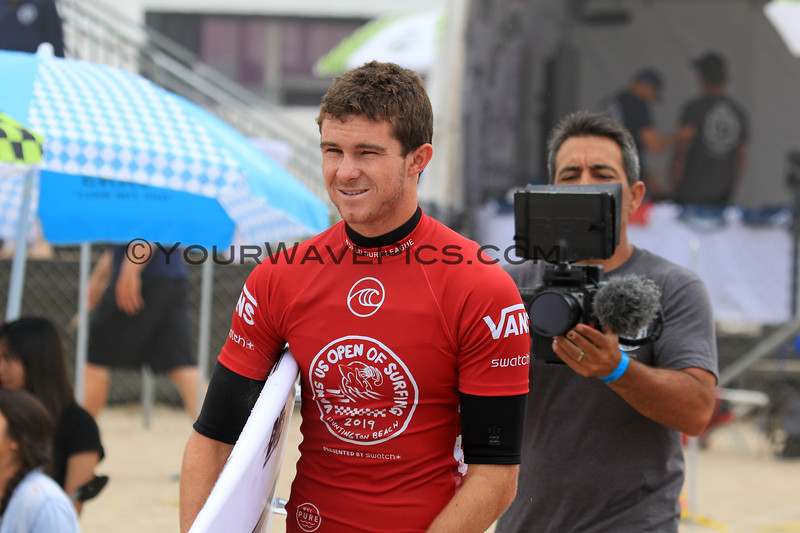 2019-08-04_US Open_Liam_O'Brien_1_Qtrs.JPG<br /> <br /> Finals Day, US Open of Surfing 2019