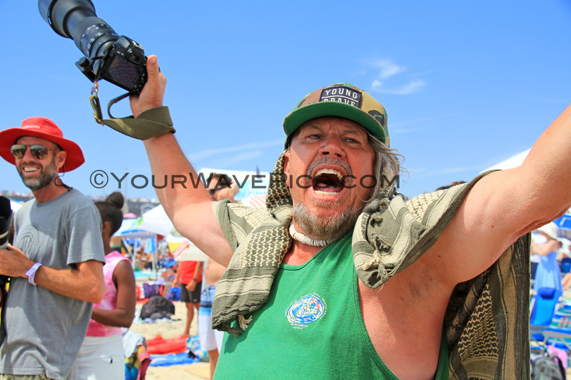 2019-08-04_US Open_Gregg_Erickson_6_Final.JPG<br /> Sage Erickson's dad as he watched her win the Women's Final<br /> Finals Day, US Open of Surfing 2019