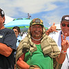 2019-08-04_US Open_Gregg_Erickson_Dano_4_Final.JPG<br /> Sage Erickson's dad celebrates her win with Dano and Jerry Jaramillo.<br /> Finals Day, US Open of Surfing 2019