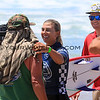 2019-08-04_US Open_Sage_Erickson_Gregg_19_Semis.JPG<br /> Sage Erickson runs up to hug her dad after winning her Semi final heat<br /> Finals Day, US Open of Surfing 2019