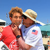 2019-08-02_US Open_Griffin_Colapinto_Don_Colapinto_31.JPG<br /> Mens Round 5 - A good luck kiss from Grandpa!<br /> US Open of Surfing 2019