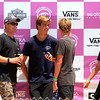 "2019-08-02_US Open_Kolohe Andino_Kade Matson_Jett Schilling_Taj Lindblad_1.JPG<br /> ""Team Colapinto"" from San Clemente waits for their buddy, Griffin's heat to begin<br /> US Open of Surfing 2019"