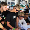 2019-08-02_US Open_Vans Team Signing_6_Nathan_Florence_Jett_Schilling_Michael February.JPG<br /> <br /> US Open of Surfing 2019