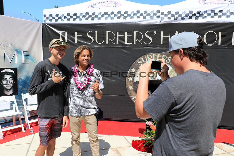 2019-08-02_US Open_Hall of Fame_7_Kai Lenny.JPG<br /> Kai Lenny is an extraordinary waterman from Hawaii<br /> US Open of Surfing 2019